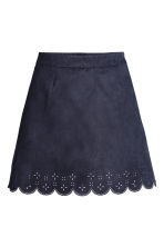Imitation suede skirt - Dark blue - Ladies | H&M CA 2